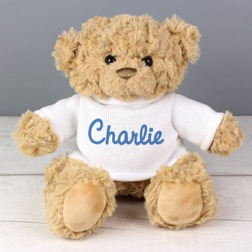 Blue Name Only Teddy Bear